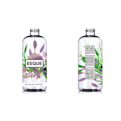Fresh, sophisticated, minimalistic label design needed for an AWESOME beauty brand: ESQUE