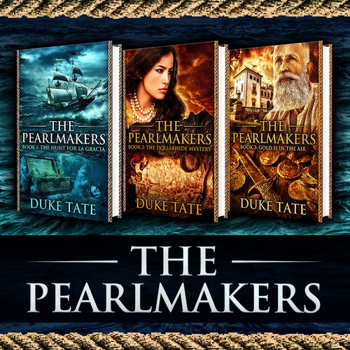 Book covers for The Pearlmakers series