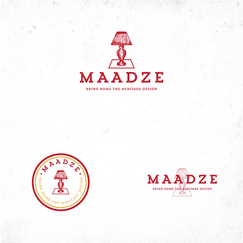 Vintage logo for Maadze - online retailer who selling handmade reclaimed, vintage and rustic furniture and home Decor Items.