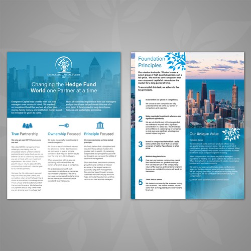 Evergreen Capital Funds flyer