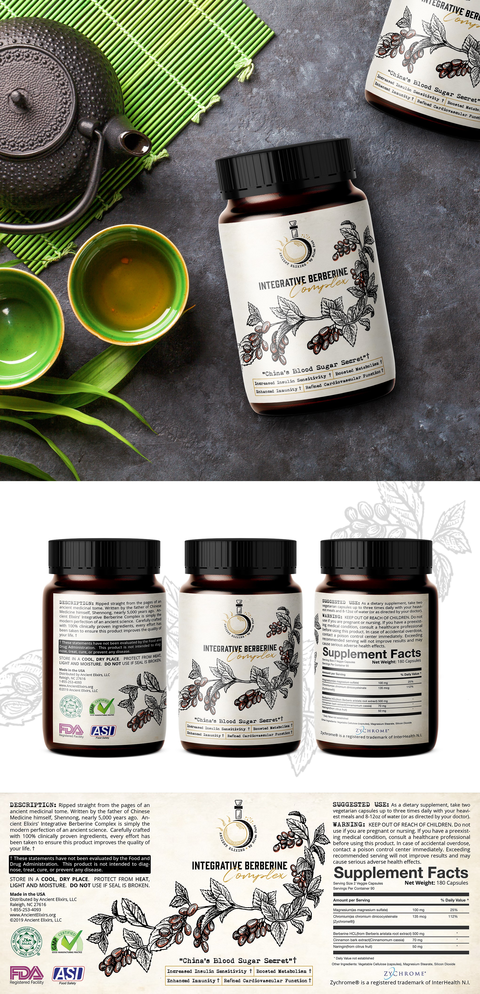 Label for ancient inspired herbal supplement