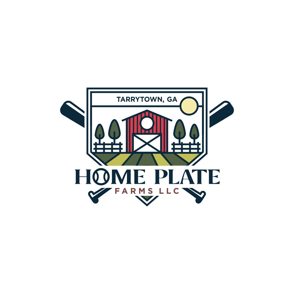 Design a logo incorporating two American staples, Baseball and Farming