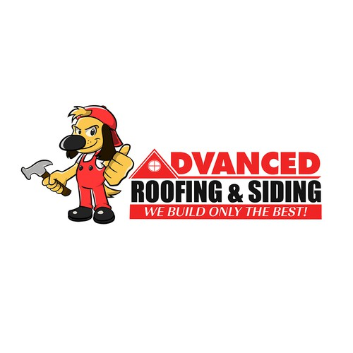 New logo for Advanced Roofing and Siding with a new dog logo
