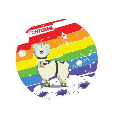 astronout llama unicorn