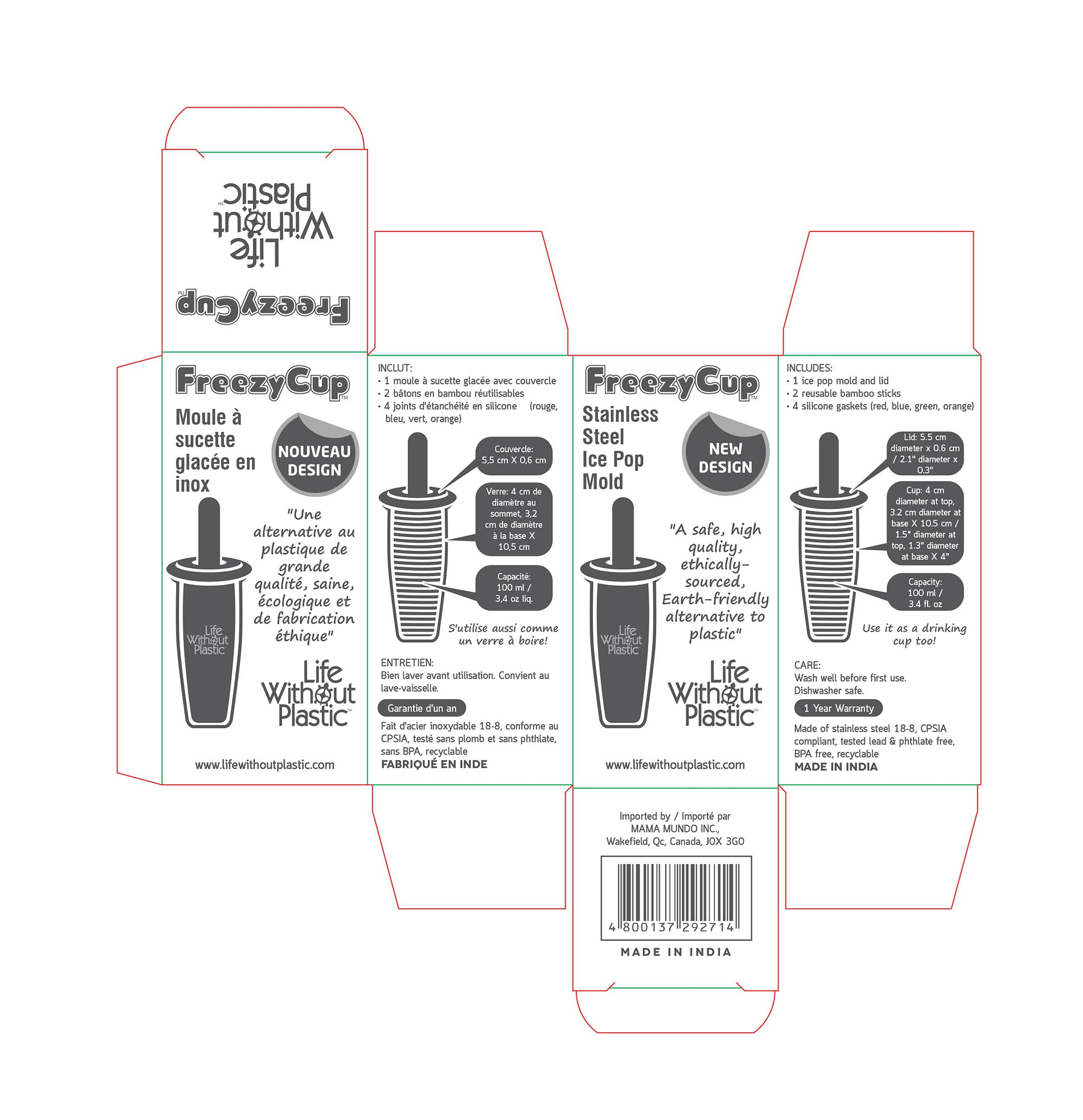Packaging for Eco-Friendly Popsicle Mould