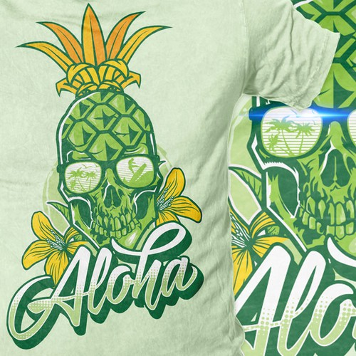 Aloha Pineapple Skull T-Shirt