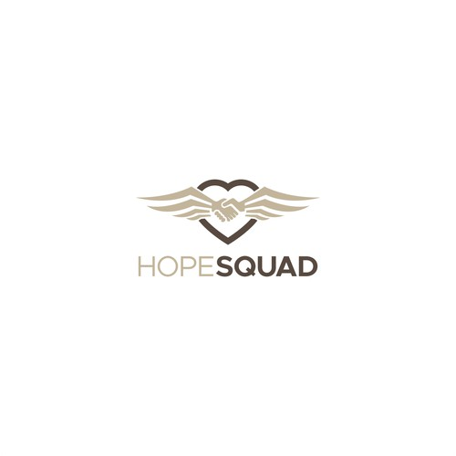 Create a powerful logo for Hope Squad