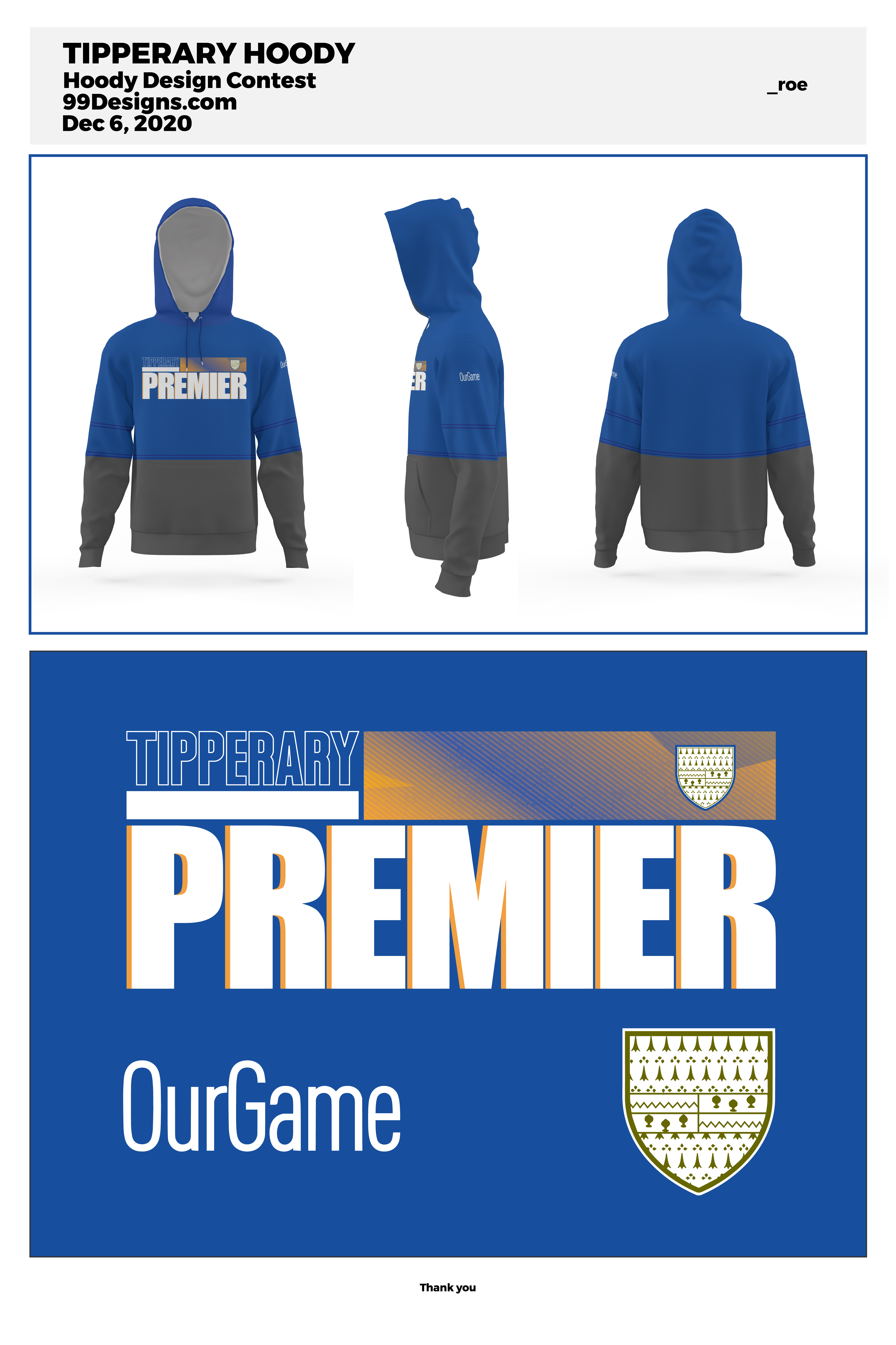 Hoodie required for local Irish team based on NFL hoodies