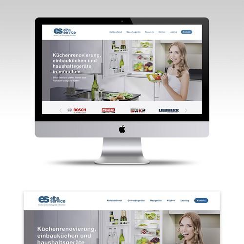 Web redesign for Elha-Service GmbH