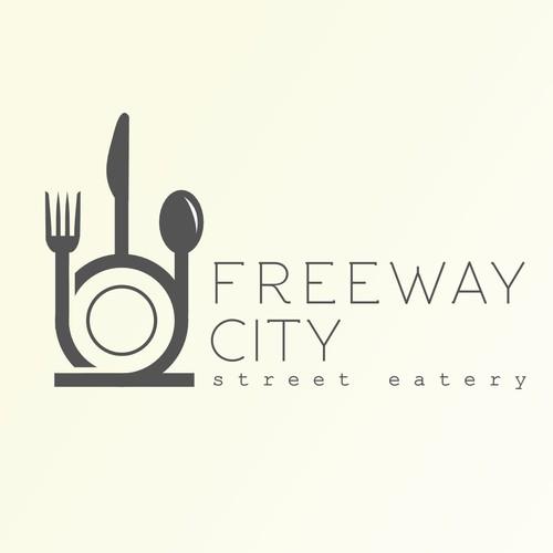 Street food logo design .