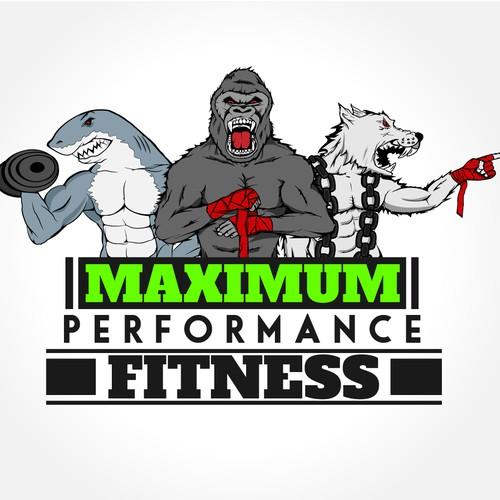"Logo for ""MAXIMUM PERFORMANCE FITNESS"""