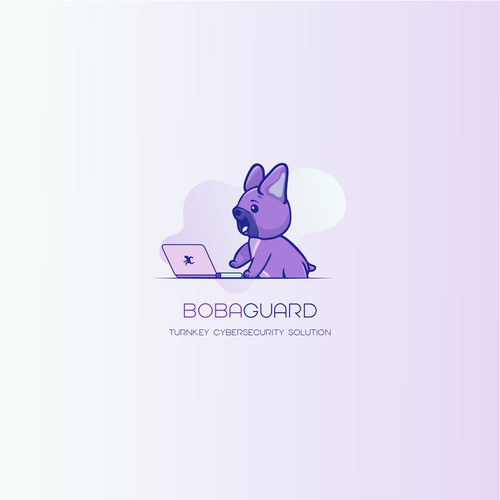 Fun, non-stereotypical cybersecurity logo featuring our cute French Bulldog puppy