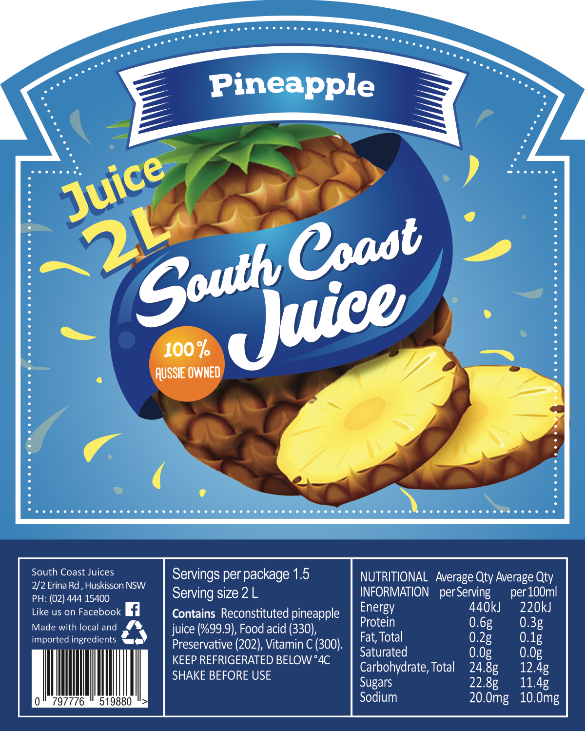 South Coast 2L Label