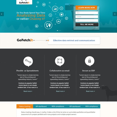 Go Fetch It needs a new landing page