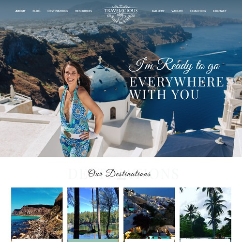 Travelicious Blog Design