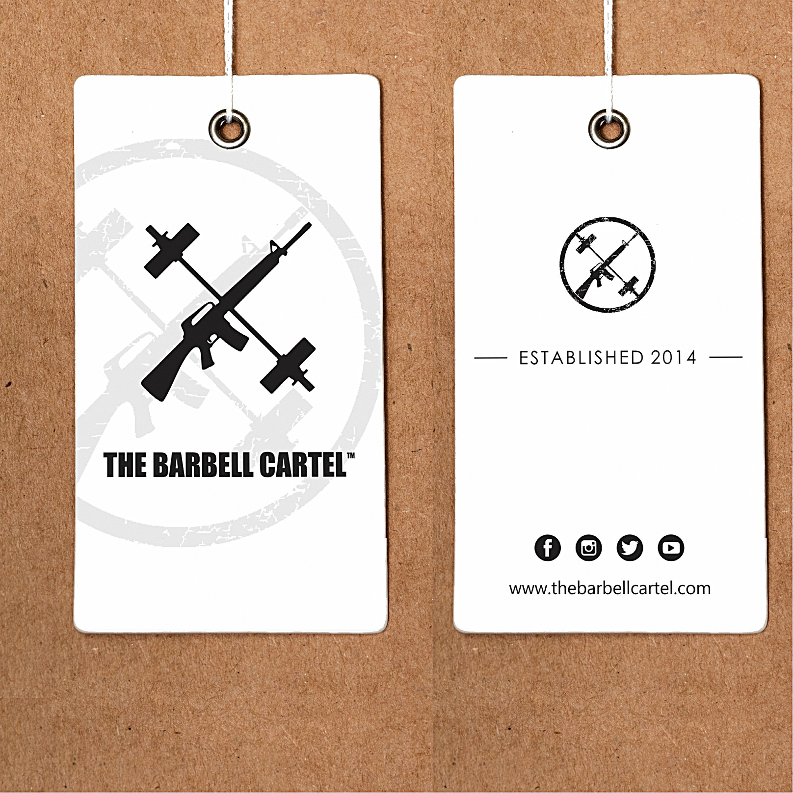 Hang Tag for fitness brand