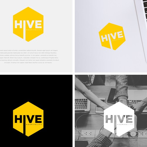 Simple logo concept for hive hospitality