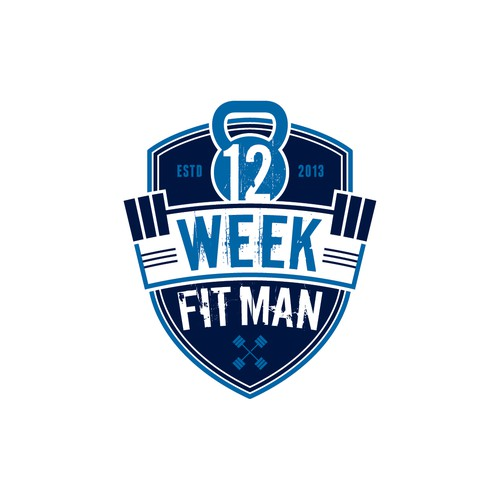 Create the next logo for 12 Week Fit Man