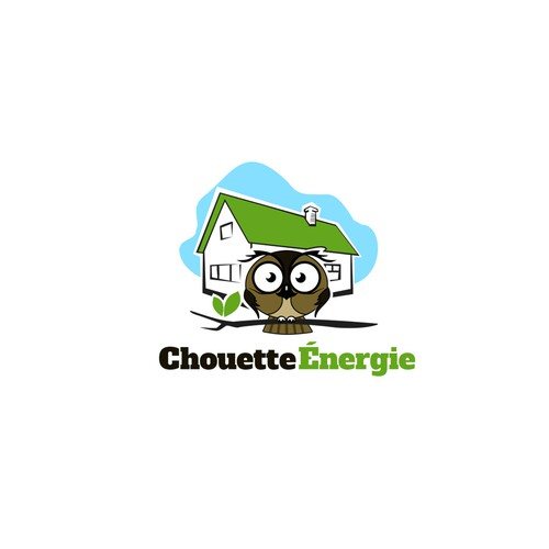 Concept logo for Chouette Energie (Owl Energy)