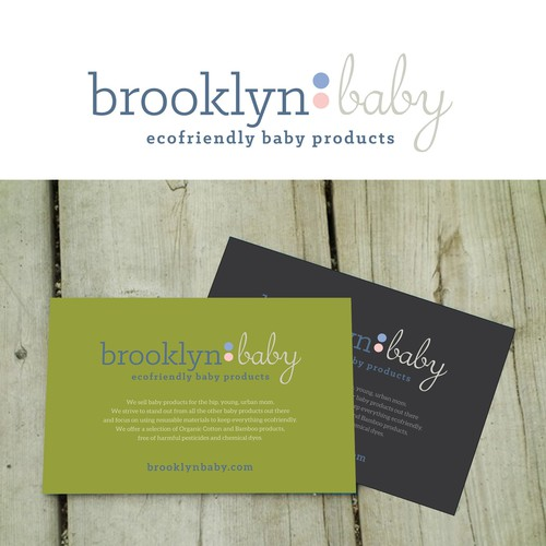 WINNING logo for young hip Brooklyn startup focused on ecofriendly baby products
