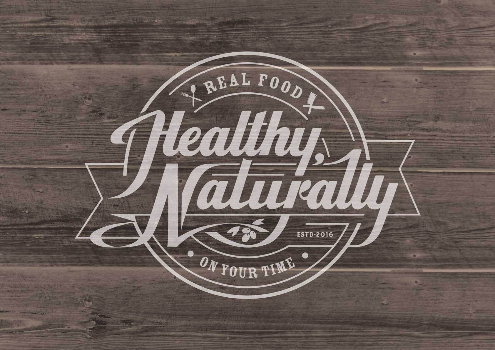 Create a badass vintage/rustic/modern logo for Healthy, Naturally - a real food meal prep company