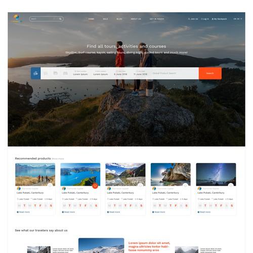 Tramondo travel webdesign