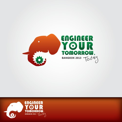 """Conference logo wanted for annual conference. """"Engineer your tomorrow"""" """"today"""" """"Bangkok 2013"""""""