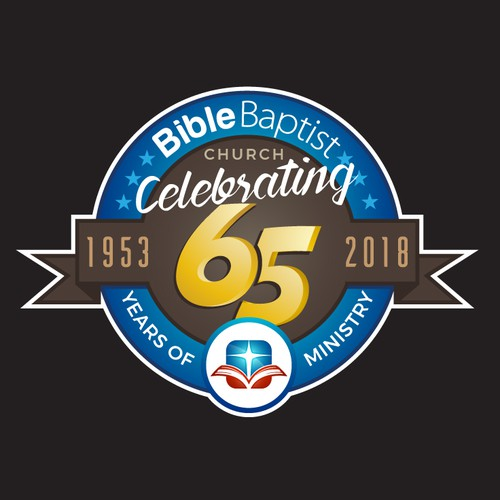 Anniversary logo design for Bible Baptist Church.