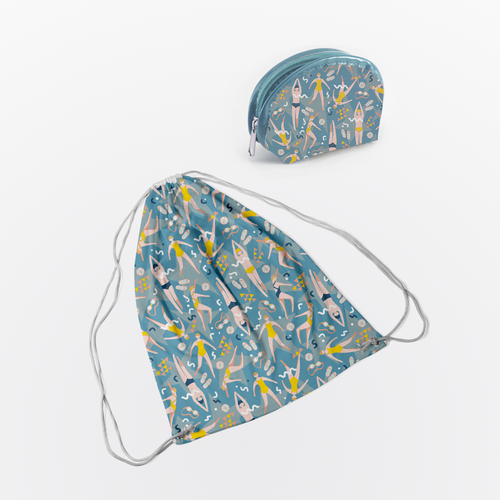 Swimming textile design