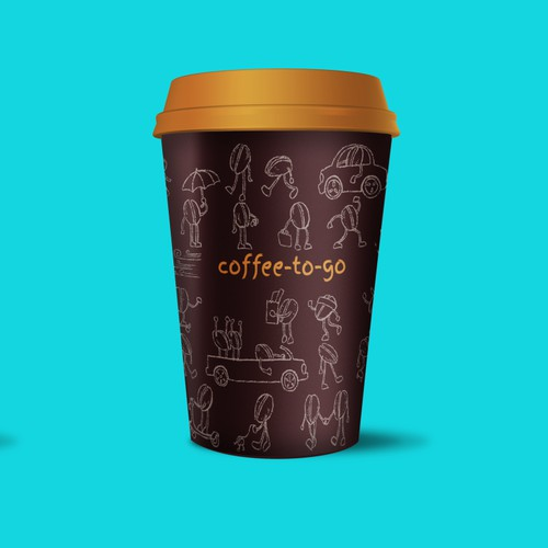 Playful design for coffee cup