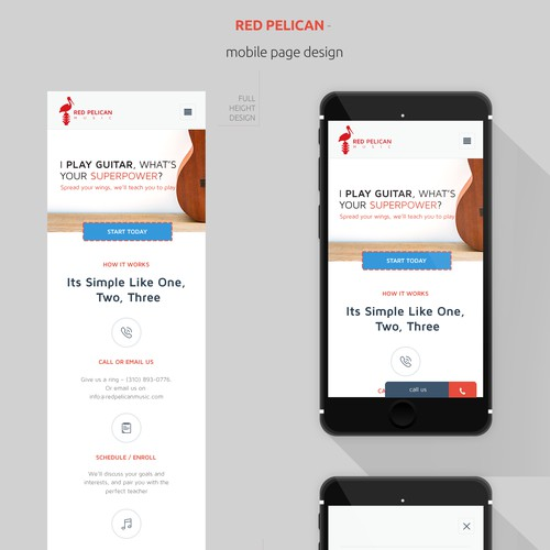 mobile page design for redpelican