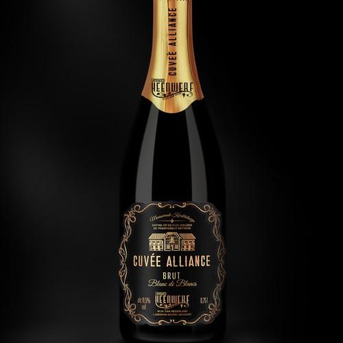 Premium Sparkling Label Design