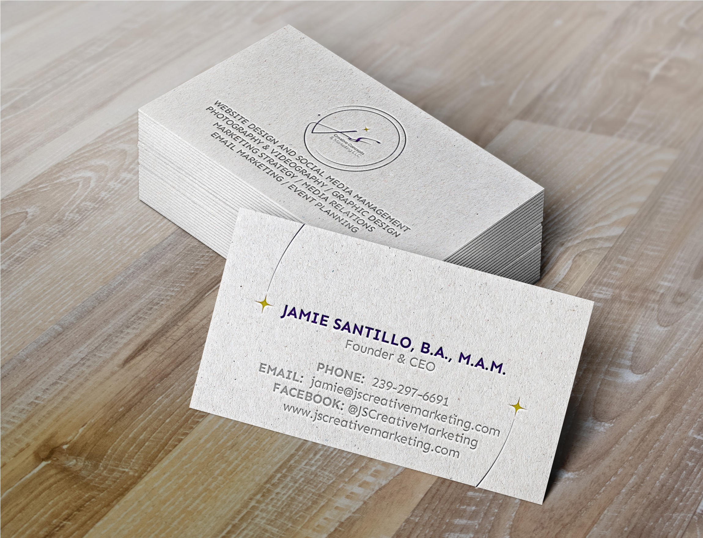 JS Creative Concepts & Marketing Business Card