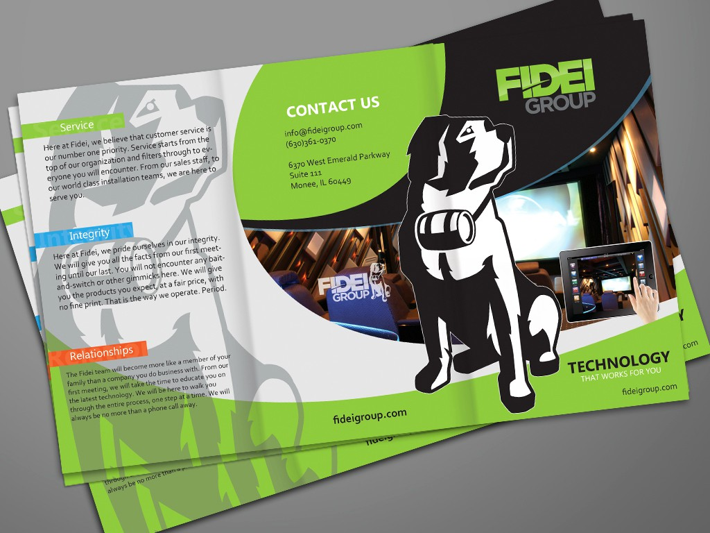 Help Fidei Group Incorporated with a new brochure design