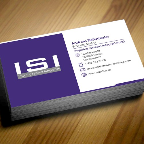 Business Card for innovative IT Consulting company