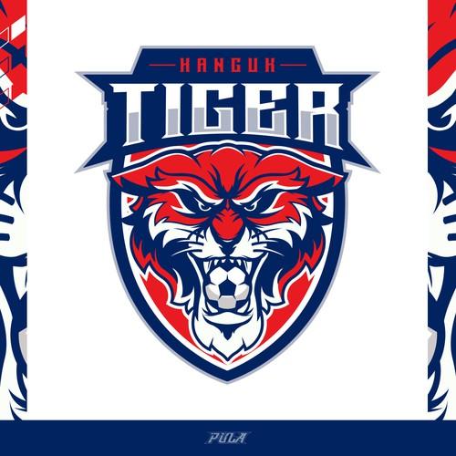 Soccer Logo design for Hanguk Tiger