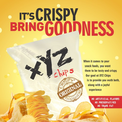 poster concept for XYZ potato chip