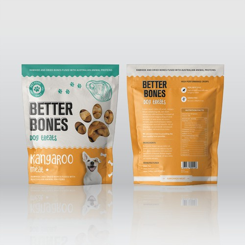 Better Bones Dog Treats Pouches