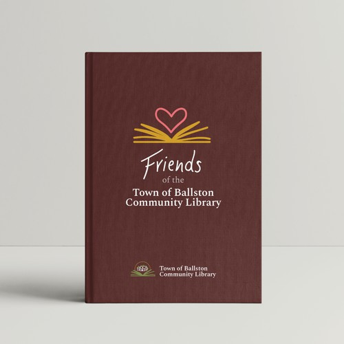 logo concepts for library and volunteer organization