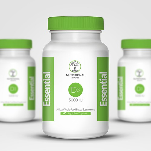 WE NEED YOU: Bold, Simple and Clean Label Design for Supplement Startup