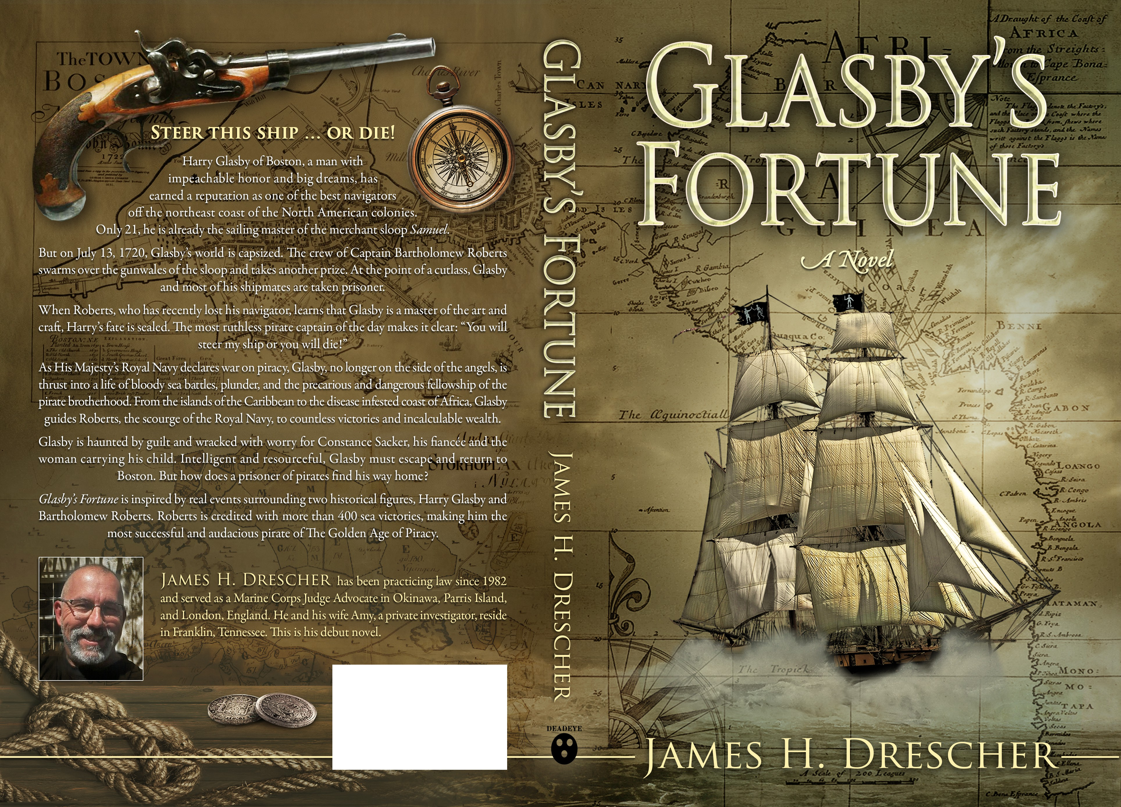 book cover for true life adventure--Glasby's Fortune