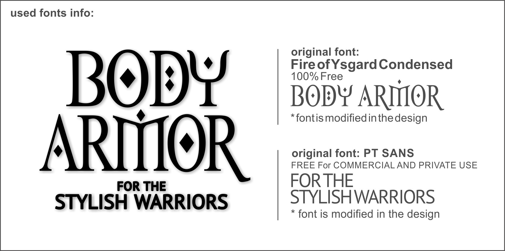 Product label for FK Body Armour - a line of high end temporary tattoos and body chains