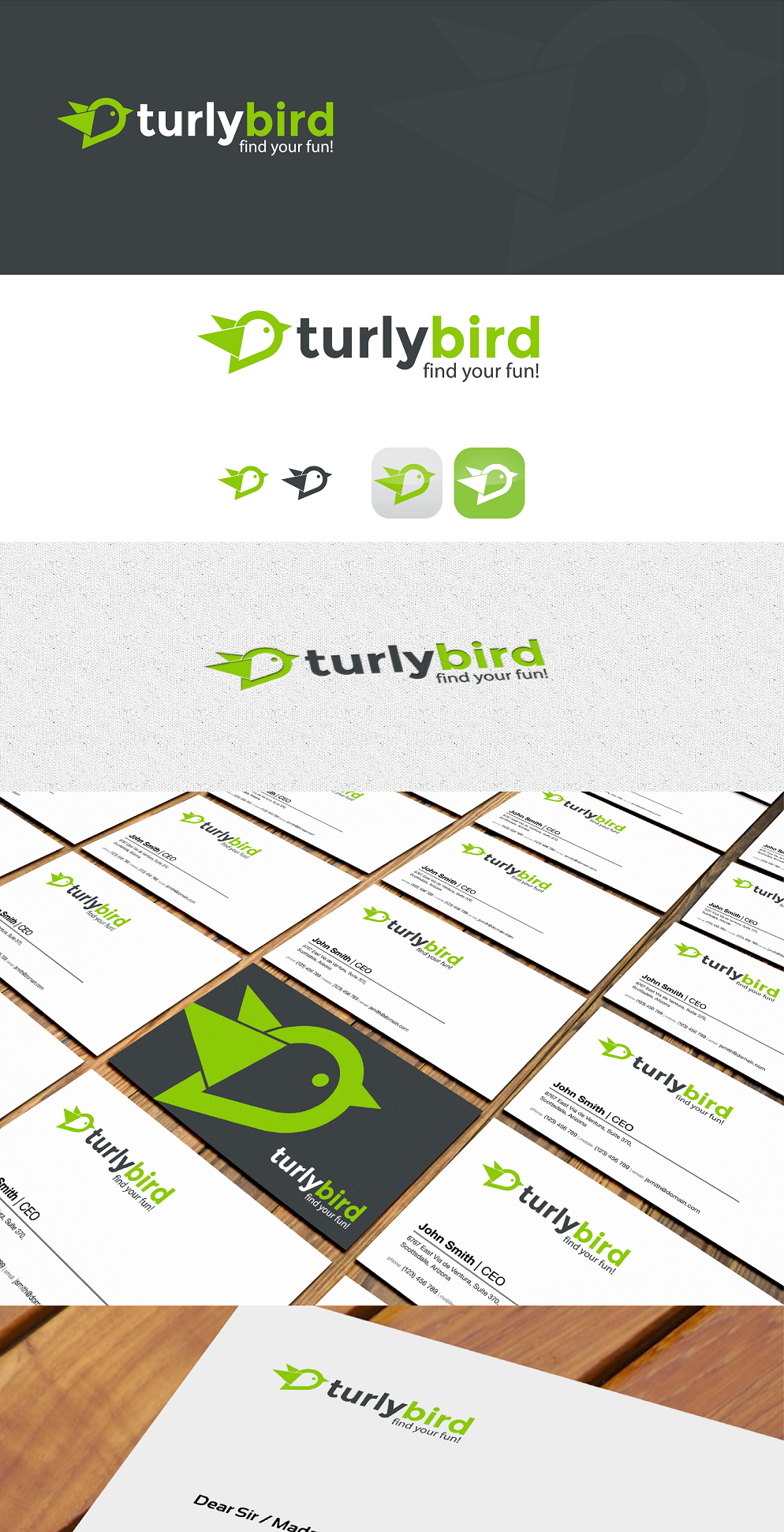Create a unifying brand identity for the turlybird widget, website and mobile app.
