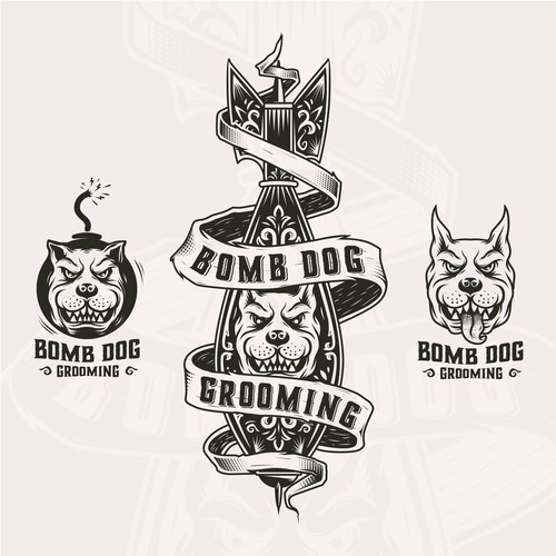logo pack for bomb dog grooming