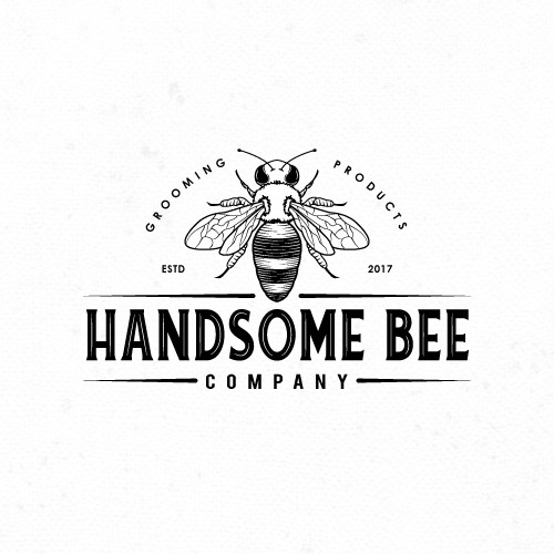 Logo for men's grooming products.