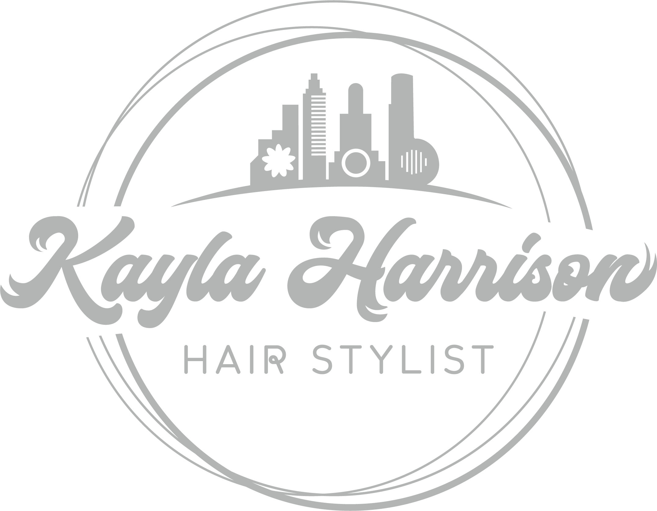 Funky Hair Stylist logo for the Live Music capital of the world