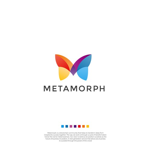 Design transformational logo for decentralized metamorph network