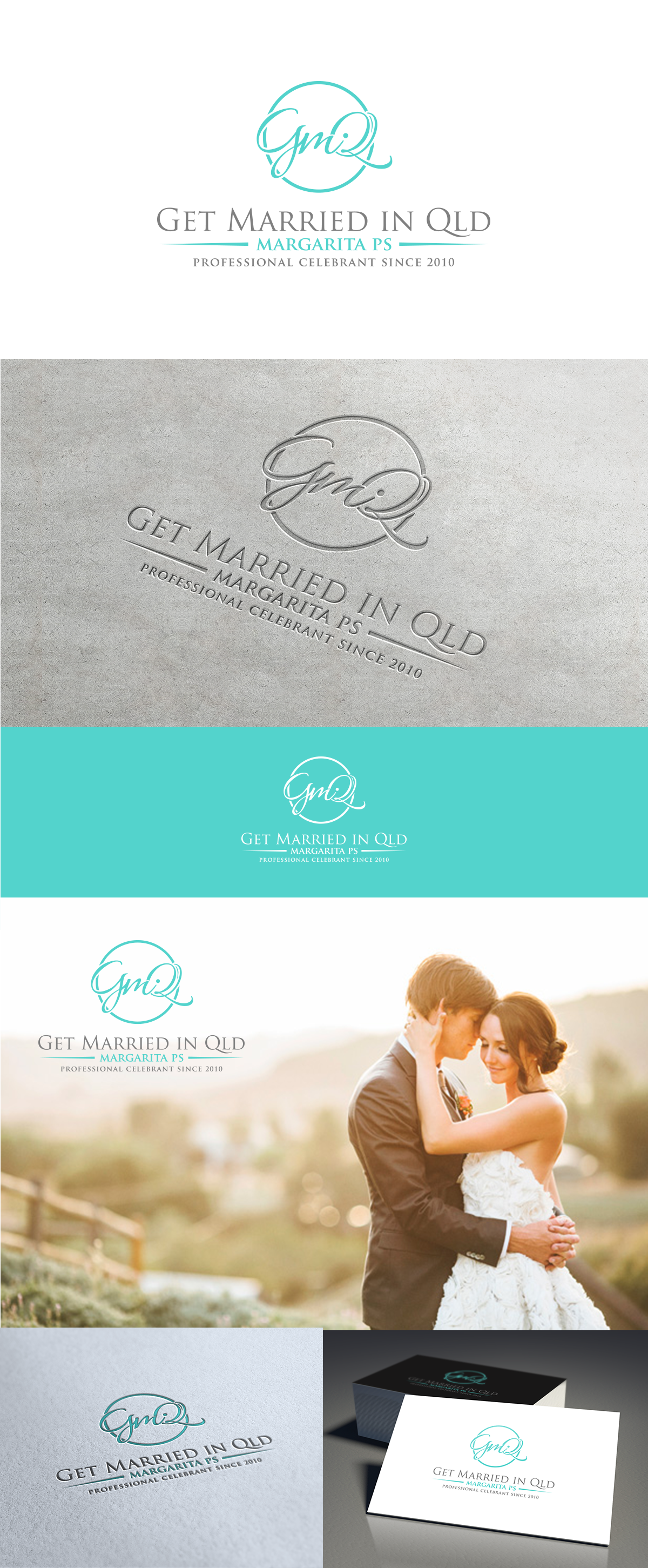 Create a Beautiful Monogram style logo to attract the most discerning Bride to be.