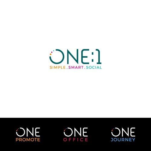 one:1 logo
