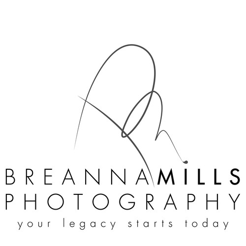 Breanna Mills Photography- Beautiful logo for a full-service photography studio
